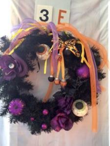 Halloween wreath - purple with eyeballs