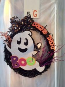 Halloween wreath with Caspar - BOO!